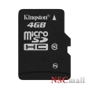 Card Kingston Micro Secure Digital Card 4GB SDHC Clasa 10 (Micro SDHC Card, pentru telefoane mobile) Kingston