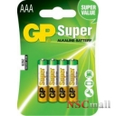 Baterie GP Batteries  AAA (R3) alcalina 4 buc/blister