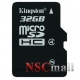 Card Kingston 32GB microSDHC Class 4 Flash Card Single Pack w/o Adapter