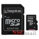 Card Kingston Micro-SDXC 64GB, Class 10 + Adaptor