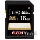Card Sony 16GB  SDHC , viteza transfer pana la 30MB/s